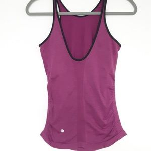 Lululemon Turbo Workout Athletic Purple Ruched Top